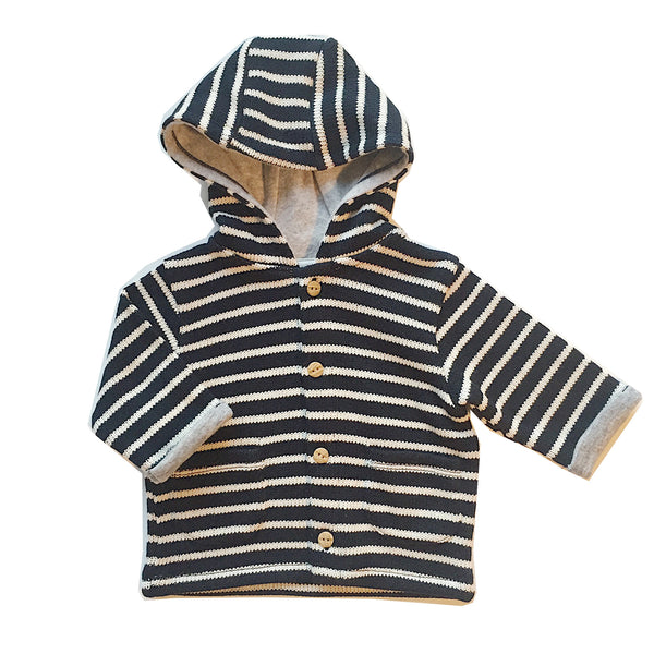 Stripe Knitted Navy Cardigan - Claude & Co