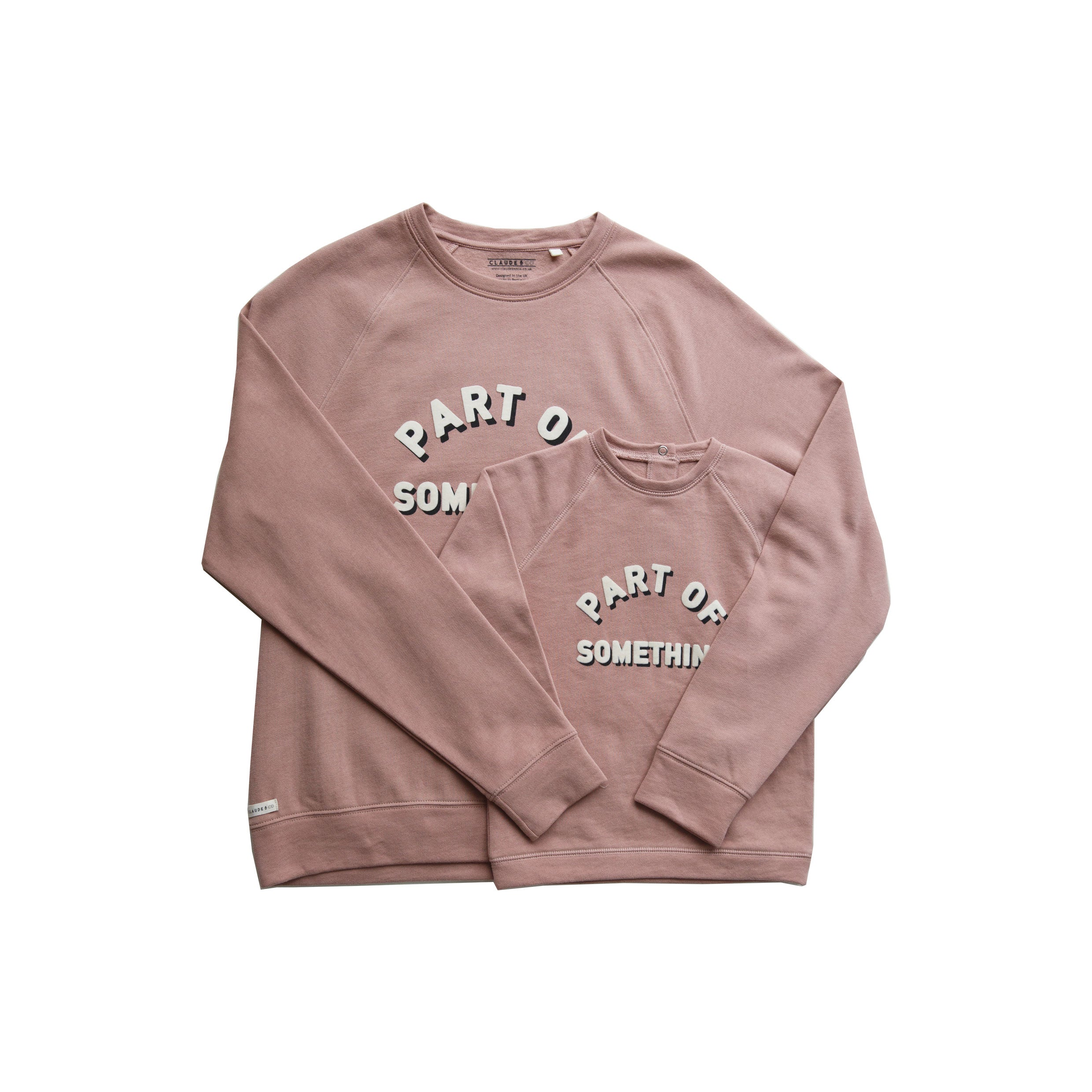 'Part Of Something' Dusky Pink Sweater Child - Charity Donation - Claude & Co