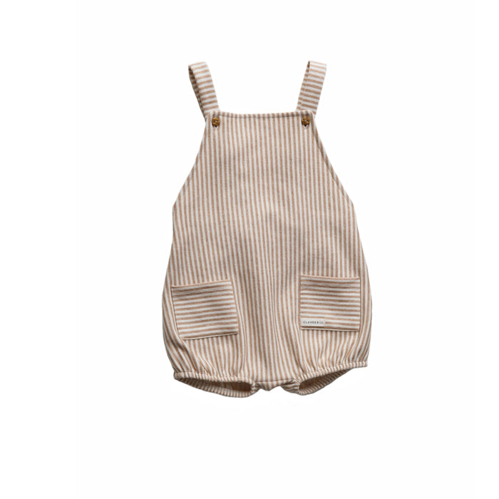 Caramel Stripe Romper - Claude & Co