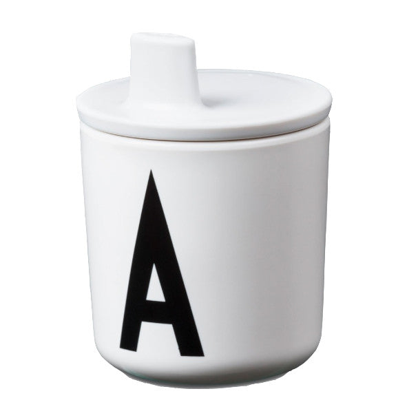 Design Letters Drinking Lid White - Claude & Co