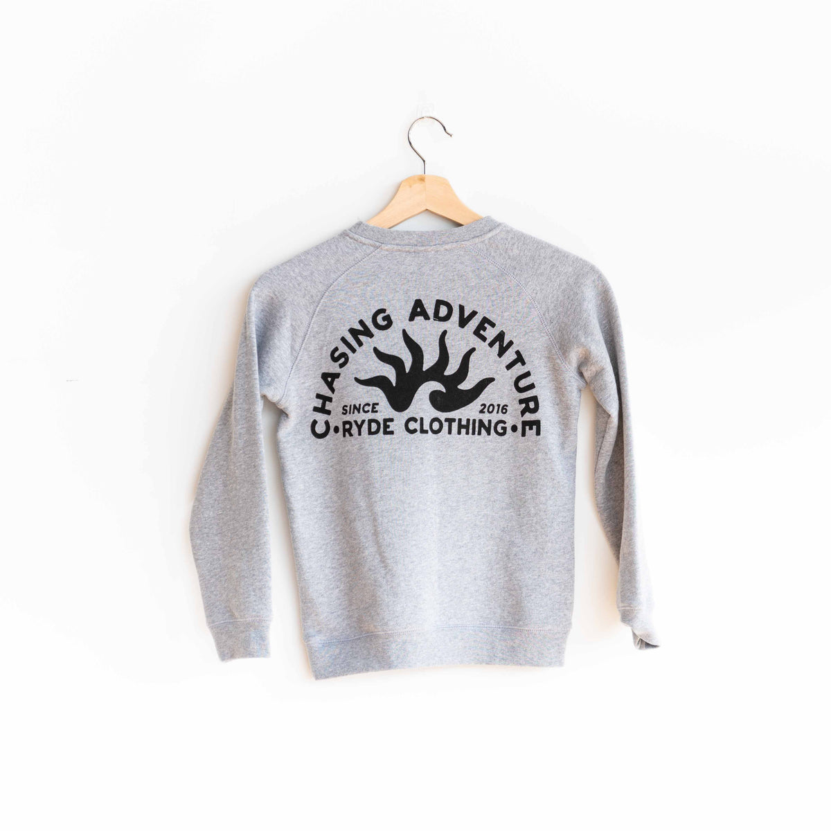 Kids Chasing Adventure Crewneck