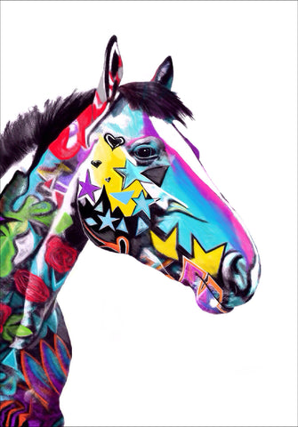 """Graffiti Horse Rose"""