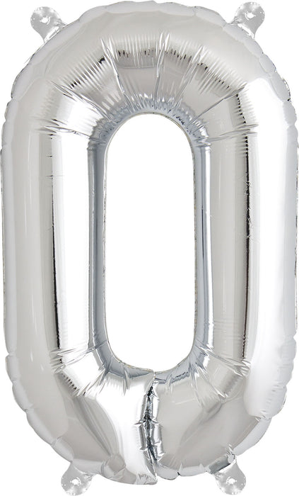 "SILVER 16"" AIR-FILLED LETTER BALLOONS from Flingers Party World Bristol Harbourside who offer a huge range of fancy dress costumes and partyware items"
