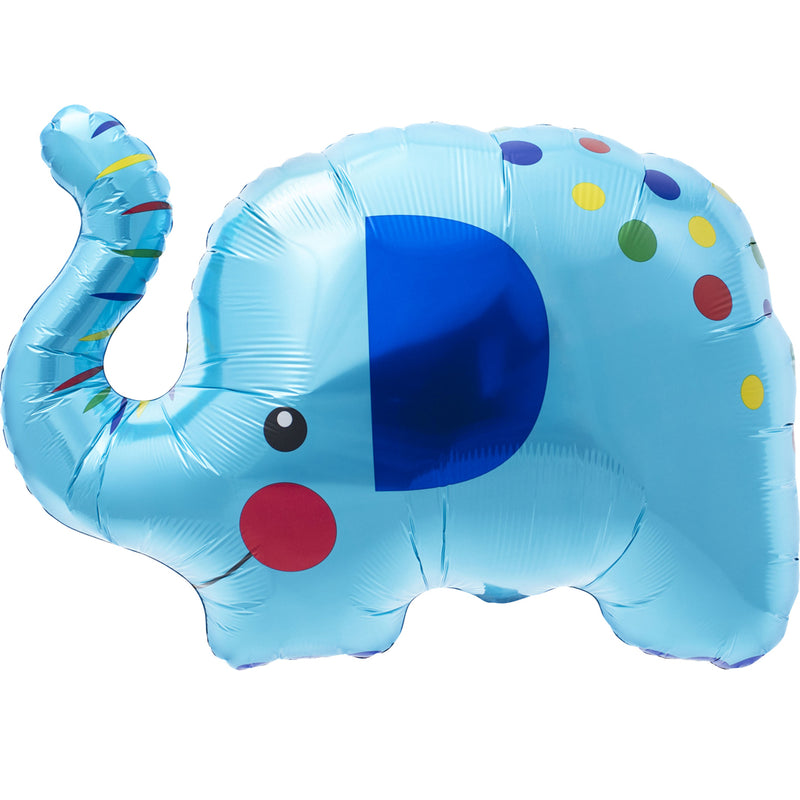 BLUE ELEPHANT SUPERSHAPE FOIL BALLOON from Flingers Party World Bristol Harbourside who offer a huge range of fancy dress costumes and partyware items