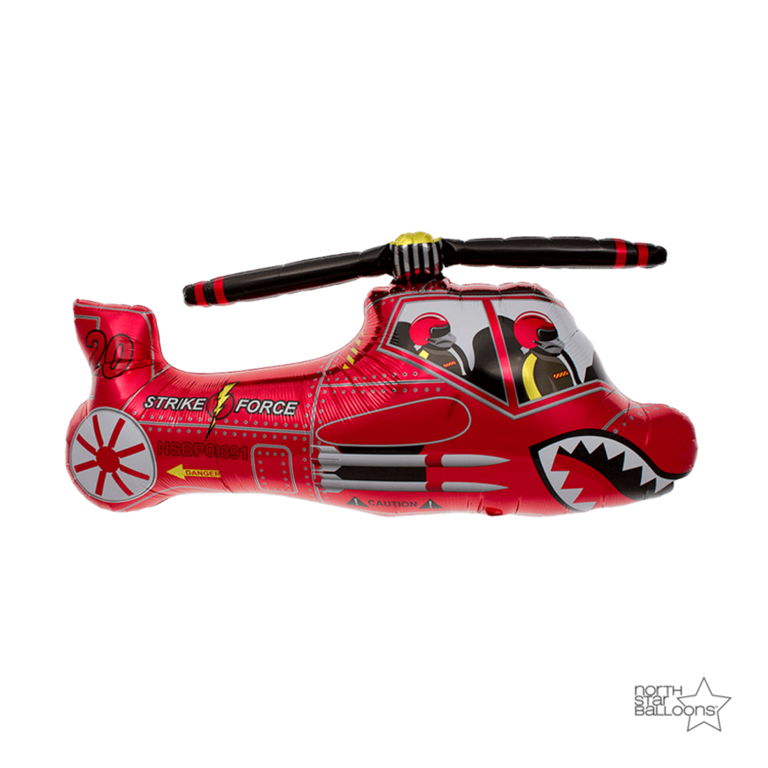 RED HELICOPTER BALLOON