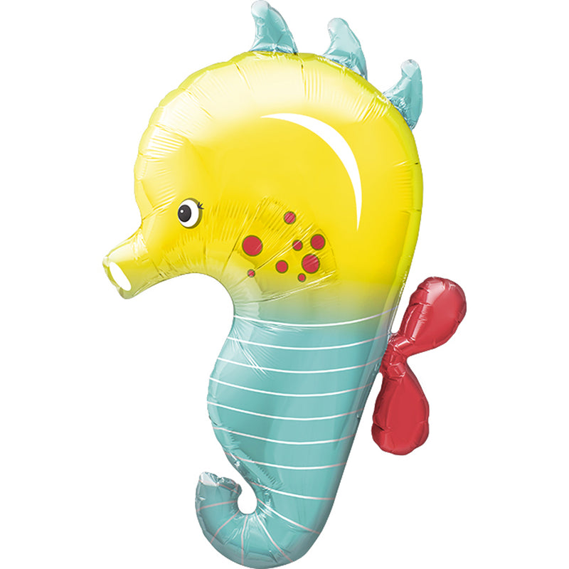 "SEAHORSE 35"" SUPERSHAPE FOIL BALLOON from Flingers Party World Bristol Harbourside who offer a huge range of fancy dress costumes and partyware items"