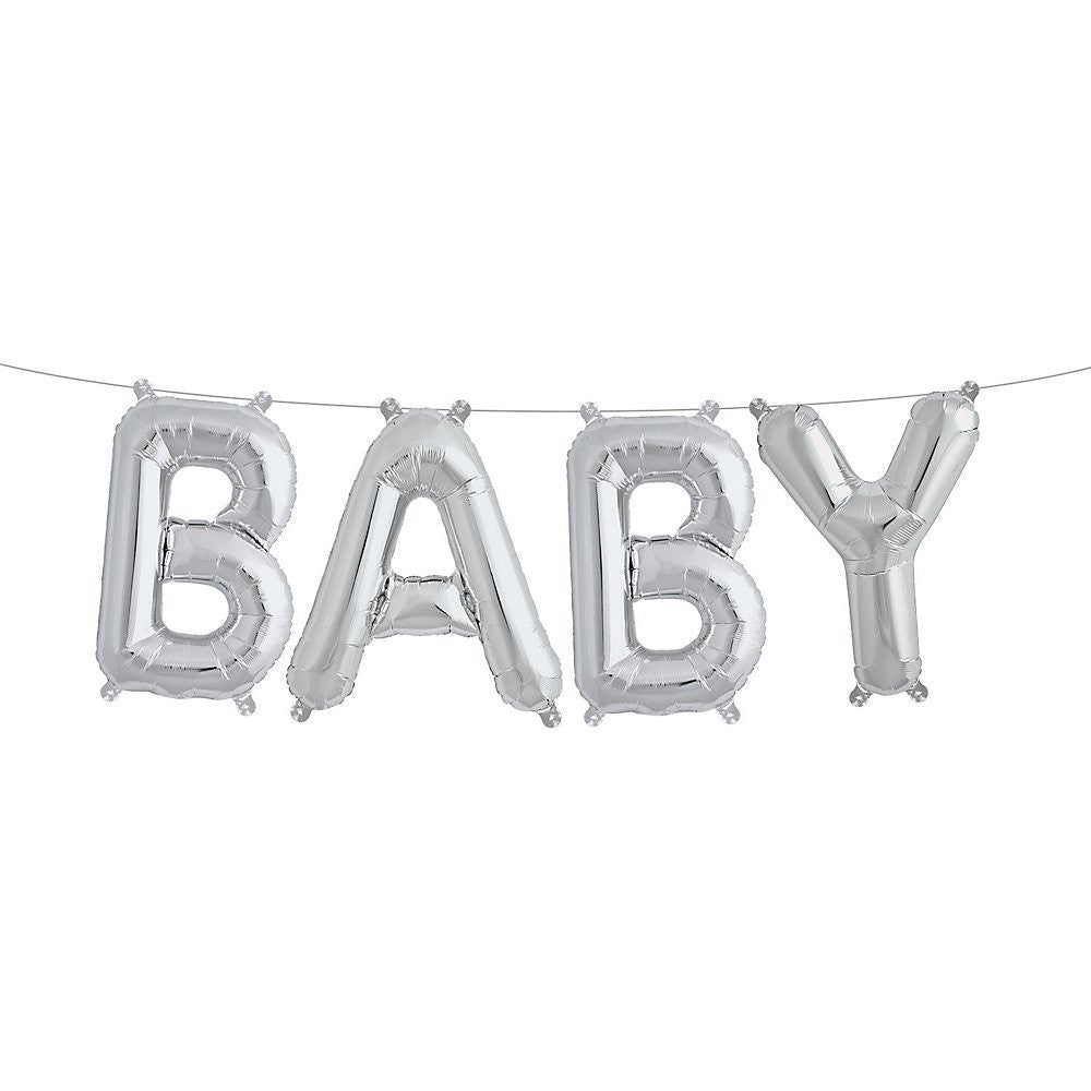 BABY AIR-FILLED BALLOON BANNER KIT from Flingers Party World Bristol Harbourside who offer a huge range of fancy dress costumes and partyware items