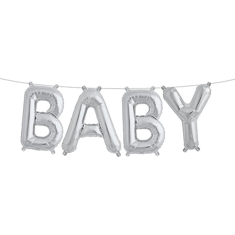 "Baby 16"" Air-Filled Balloon Banner Kit from Pop Cloud Bristol who offer a huge range of partyware, wedding and event hire decorations"