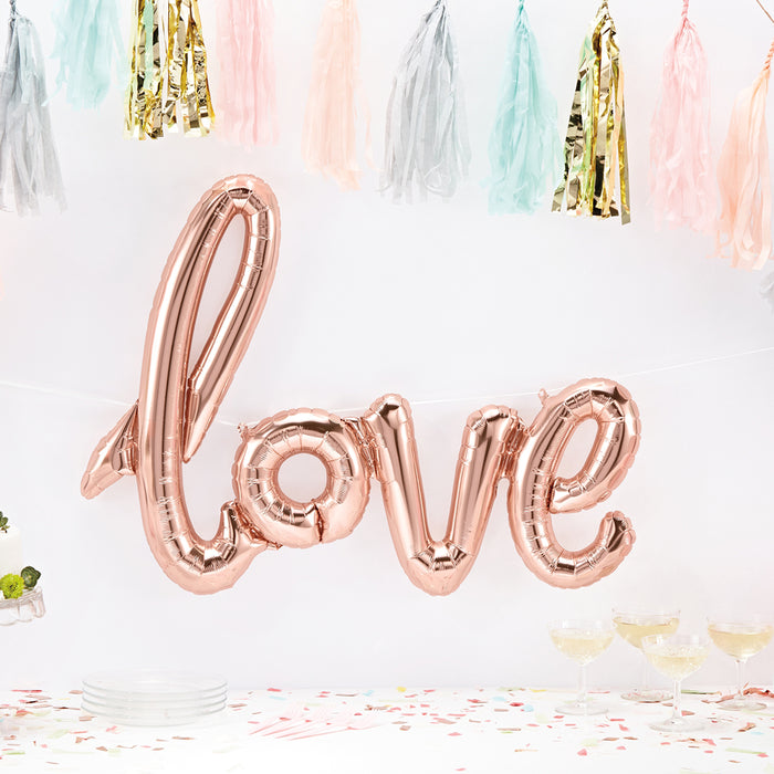 LOVE BANNER BALLOON from Flingers Party World Bristol Harbourside who offer a huge range of fancy dress costumes and partyware items