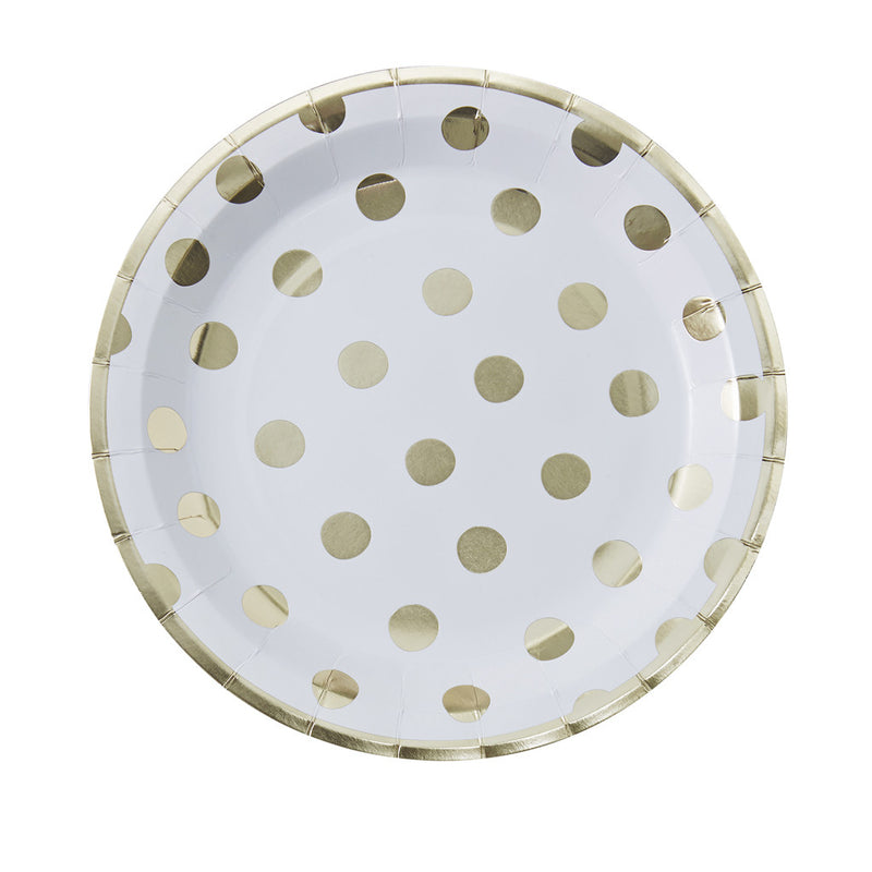 Pick & Mix Polka Dot Paper Plates from Pop Cloud Bristol who offer a huge range of partyware, wedding and event hire decorations