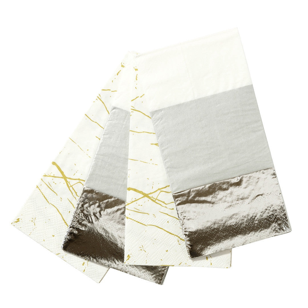 MODERN METALLICS DOUBLE NAPKIN from Flingers Party World Bristol Harbourside who offer a huge range of fancy dress costumes and partyware items