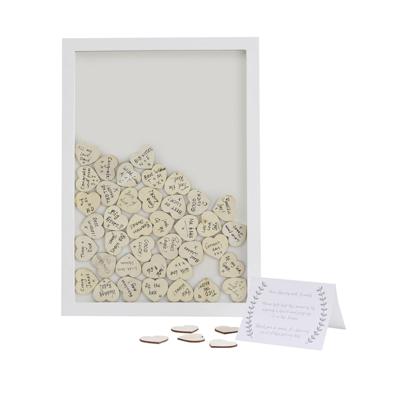 DROP TOP WOODEN FRAME ALTERNATIVE GUEST BOOK from Flingers Party World Bristol Harbourside who offer a huge range of fancy dress costumes and partyware items