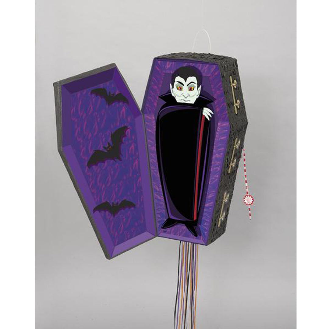 VAMPIRE COFFIN PULL POPOUT PINATA from Flingers Party World Bristol Harbourside who offer a huge range of fancy dress costumes and partyware items