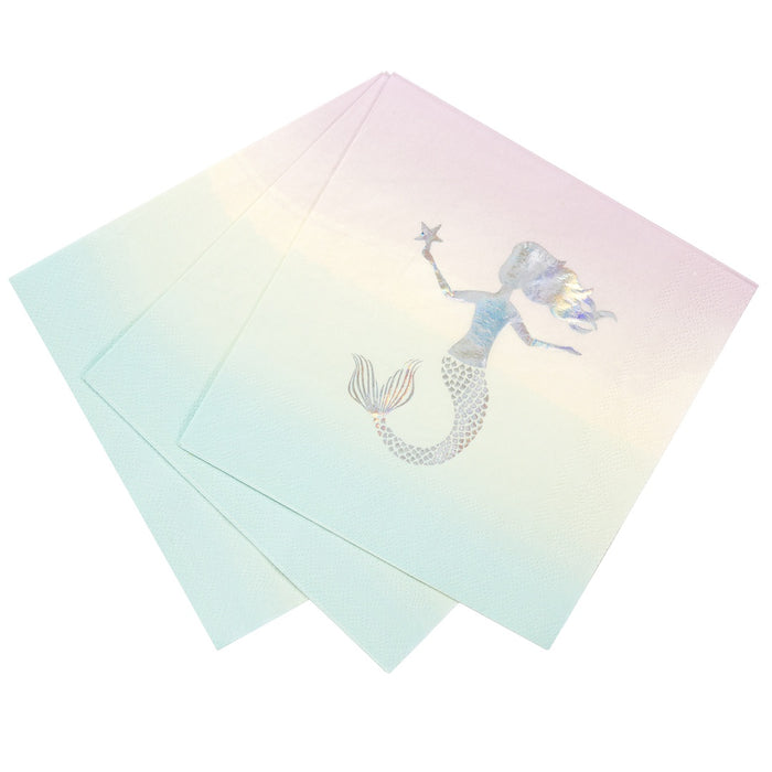 MERMAID NAPKIN from Pop Cloud Bristol www.popcloud.co.uk who offer a huge range of partyware, wedding and event hire decorations