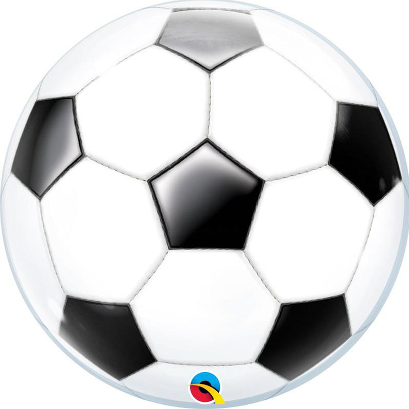 FOOTBALL BUBBLE BALLOON from Flingers Party World Bristol Harbourside who offer a huge range of fancy dress costumes and partyware items