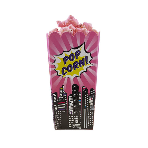 Pop Art Party Popcorn Boxes from Pop Cloud Bristol who offer a huge range of partyware, wedding and event hire decorations
