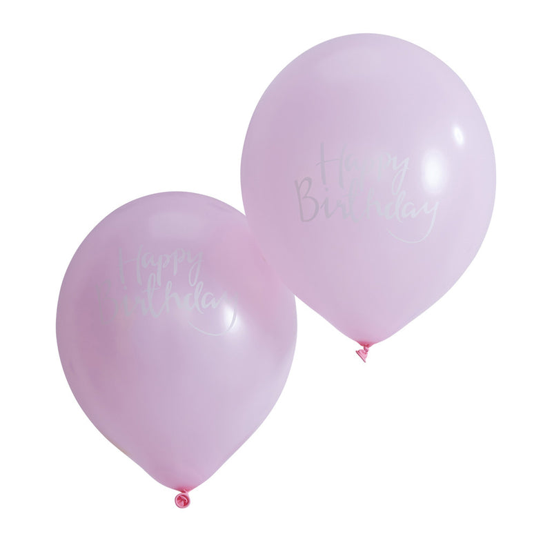 PICK AND MIX PINK HAPPY BIRTHDAY BALLOONS from Flingers Party World Bristol Harbourside who offer a huge range of fancy dress costumes and partyware items