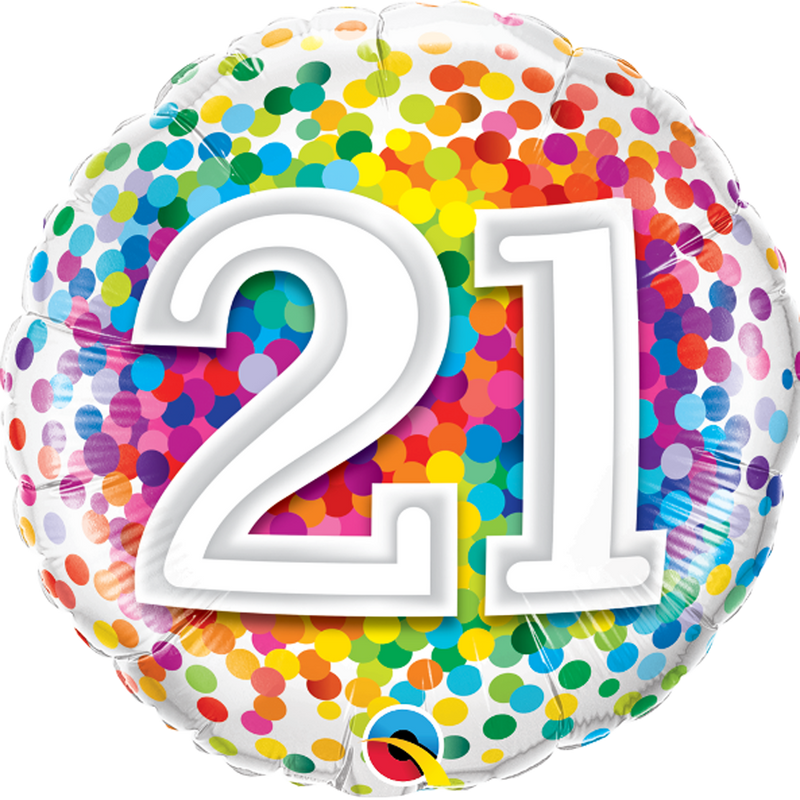 21ST BIRTHDAY RAINBOW CONFETTI from Flingers Party World Bristol Harbourside who offer a huge range of fancy dress costumes and partyware items