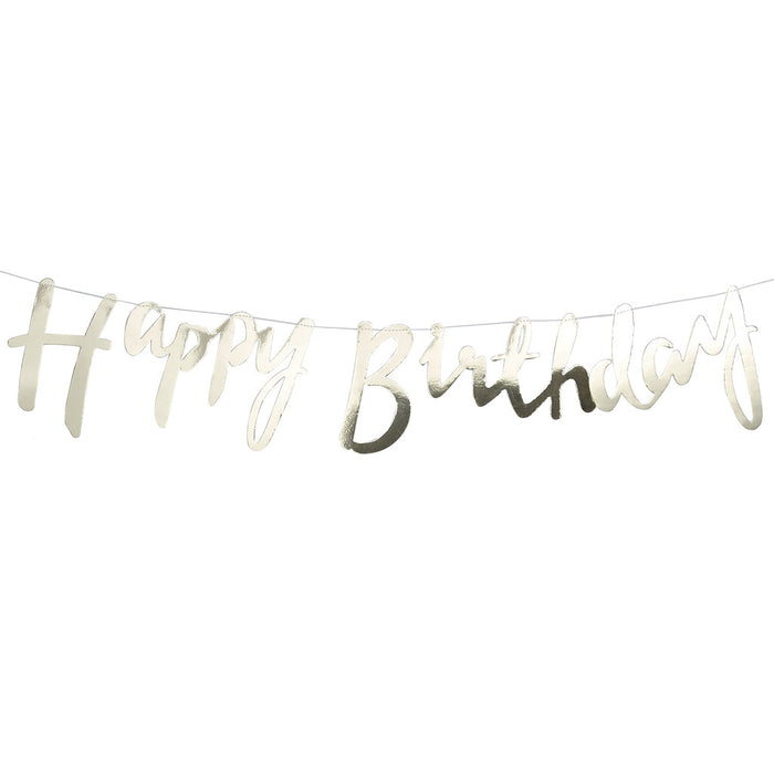 PICK AND MIX HAPPY BIRTHDAY FOILED BACKDROP from Flingers Party World Bristol Harbourside who offer a huge range of fancy dress costumes and partyware items