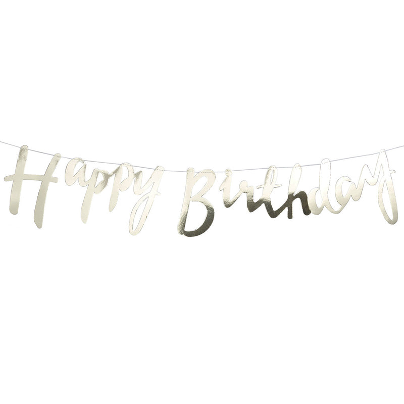 Pick & Mix Happy Birthday Foiled Backdrop from Pop Cloud Bristol who offer a huge range of partyware, wedding and event hire decorations