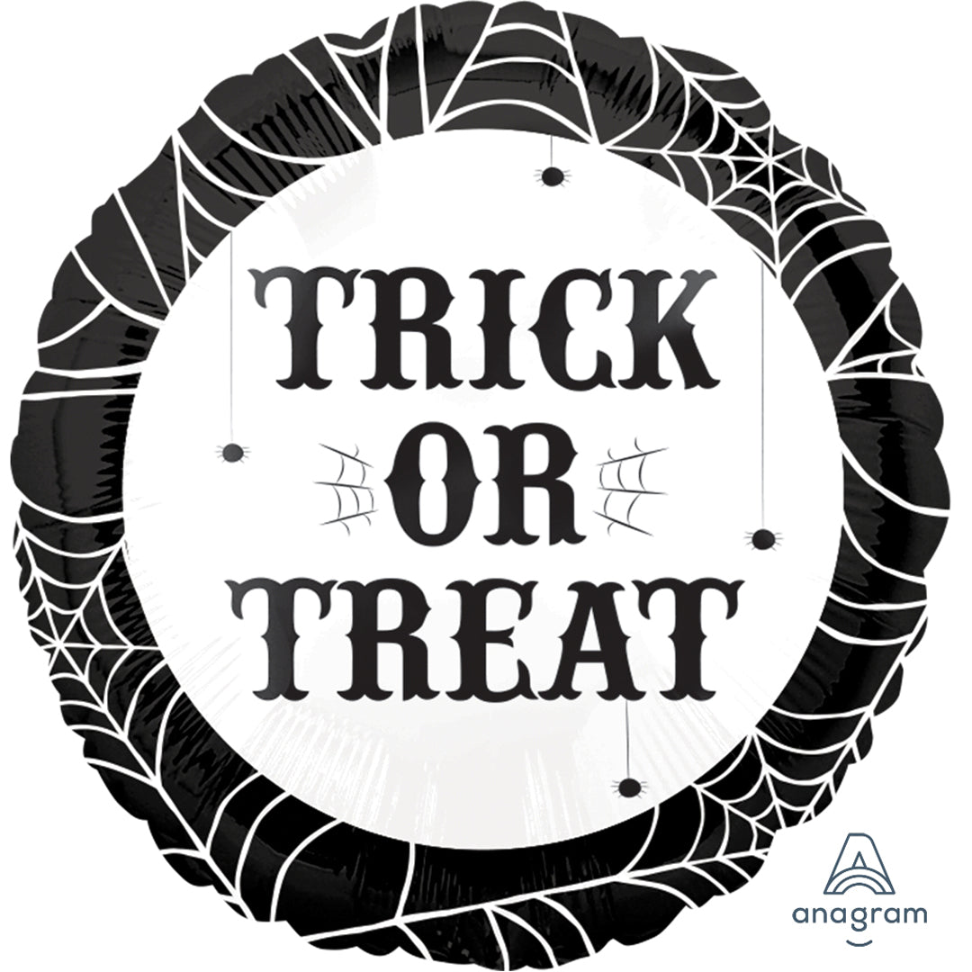 TRICK OR TREAT FOIL BALLOON from Flingers Party World Bristol Harbourside who offer a huge range of fancy dress costumes and partyware items