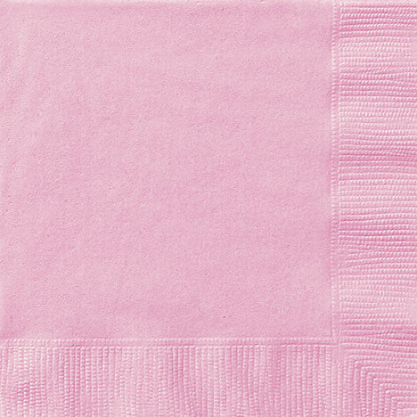 20 Lovely Pink Lunch Napkins from Pop Cloud Bristol who offer a huge range of partyware, wedding and event hire decorations