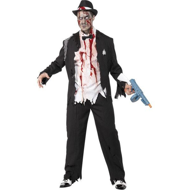 ZOMBIE GANGSTER COSTUME from Flingers Party World Bristol Harbourside who offer a huge range of fancy dress costumes and partyware items