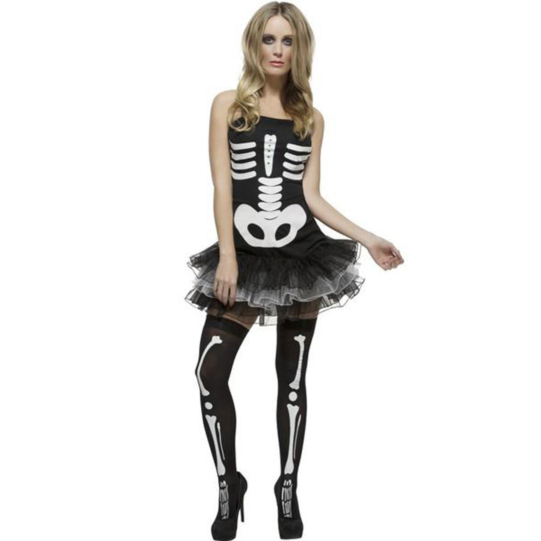 FEVER SKELETON COSTUME from Flingers Party World Bristol Harbourside who offer a huge range of fancy dress costumes and partyware items