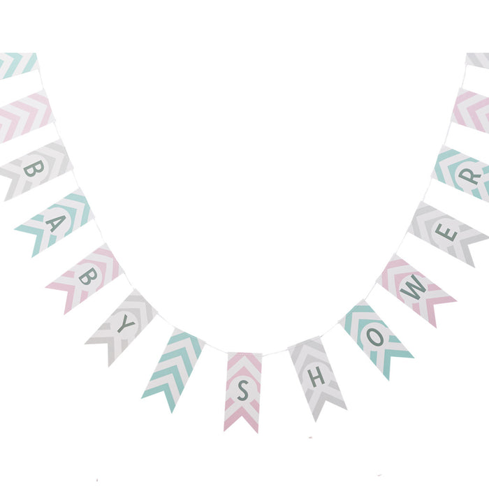 CHEVRON DIVINE BABY SHOWER BUNTING from Flingers Party World Bristol Harbourside who offer a huge range of fancy dress costumes and partyware items