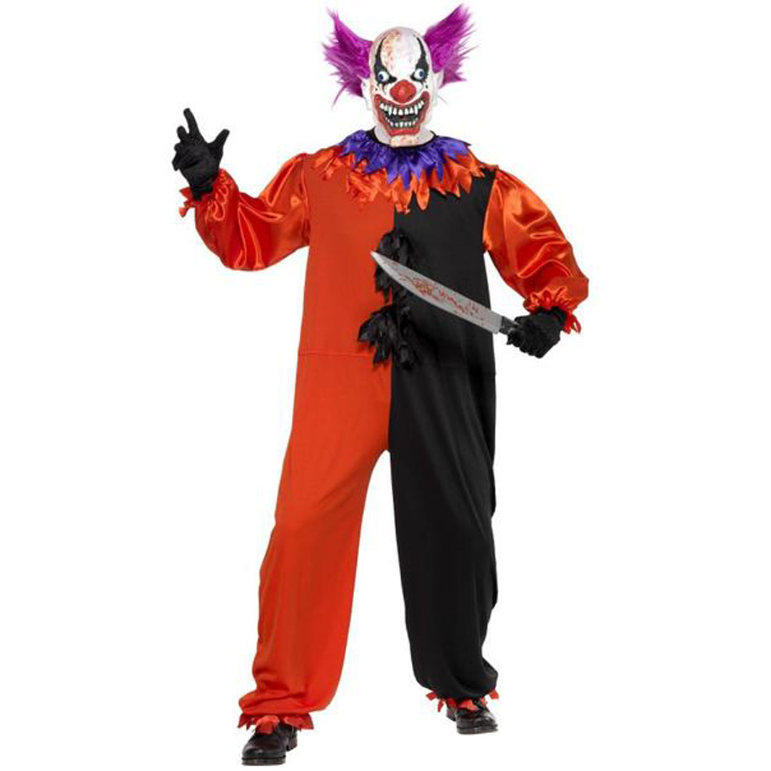 CIRQUE SINISTER SCARY BO BO THE CLOWN COSTUME from Flingers Party World Bristol Harbourside who offer a huge range of fancy dress costumes and partyware items