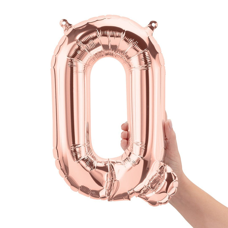 "ROSE GOLD 16"" AIR-FILLED LETTER BALLOONS from Flingers Party World Bristol Harbourside who offer a huge range of fancy dress costumes and partyware items"