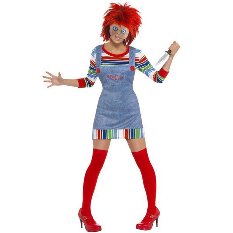 CHUCKY LADIES COSTUME from Flingers Party World Bristol Harbourside who offer a huge range of fancy dress costumes and partyware items