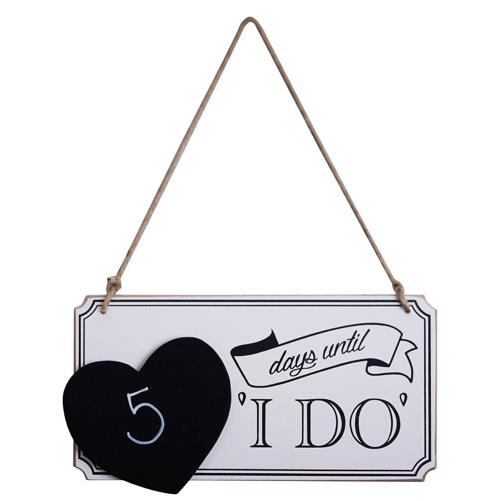 I Do Countdown Wooden Sign from from Pop Cloud Bristol who offer a huge range of partyware, wedding and event hire decorations