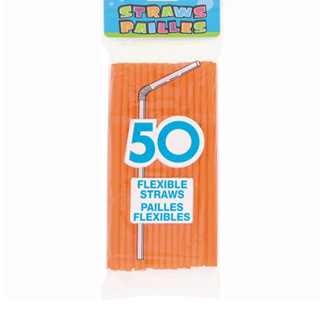 50 STRAWS PUMPKIN ORANGE from Flingers Party World Bristol Harbourside who offer a huge range of fancy dress costumes and partyware items