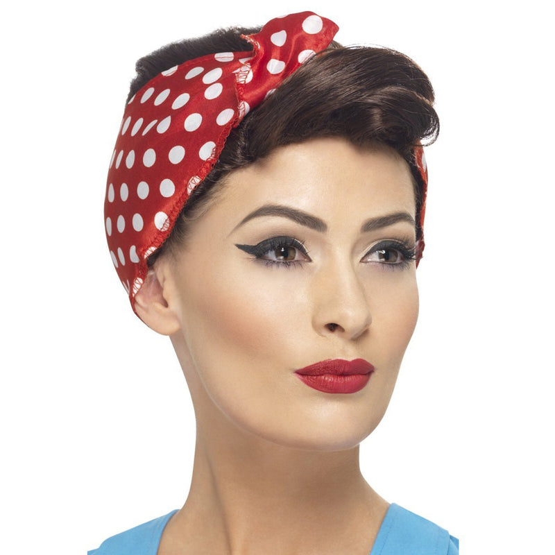 40'S ROSIE WIG from Flingers Party World Bristol Harbourside who offer a huge range of fancy dress costumes and partyware items