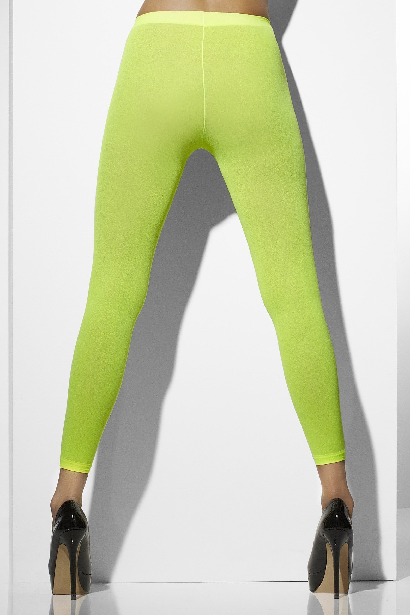 NEON GREEN OPAQUE FOOTLESS TIGHTS from Flingers Party World Bristol Harbourside who offer a huge range of fancy dress costumes and partyware items