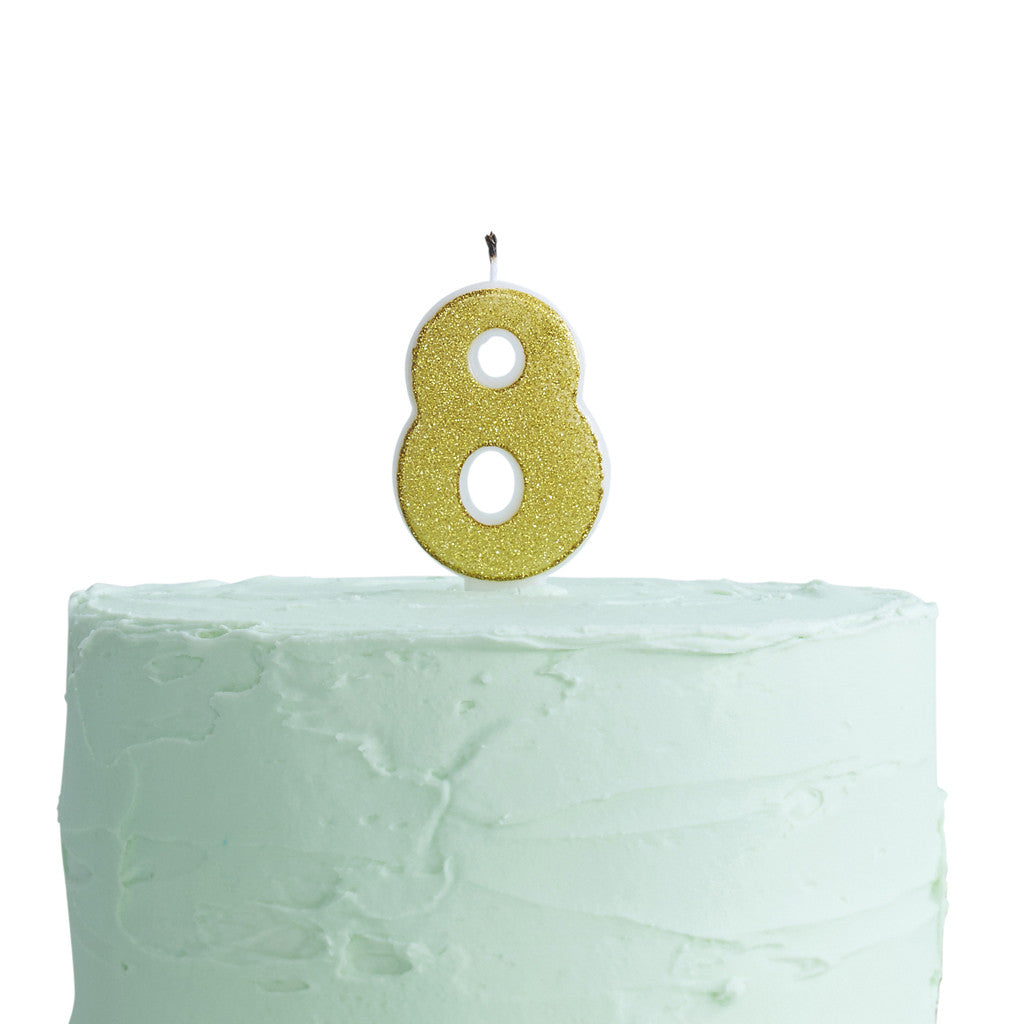 Pick & Mix Candle Number 8 from Pop Cloud Bristol who offer a huge range of partyware, wedding and event hire decorations