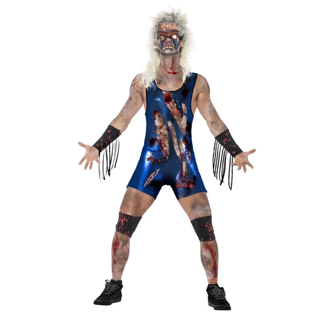 ZOMBIE WRESTLER COSTUME from Flingers Party World Bristol Harbourside who offer a huge range of fancy dress costumes and partyware items