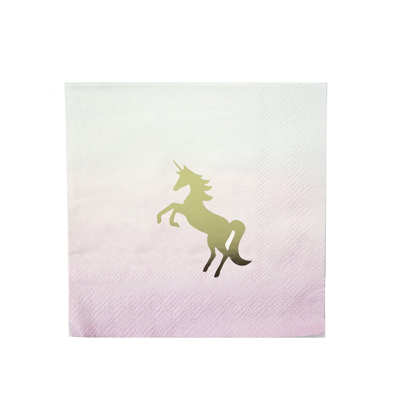 UNICORN COCKTAIL NAPKINS from Flingers Party World Bristol Harbourside who offer a huge range of fancy dress costumes and partyware items