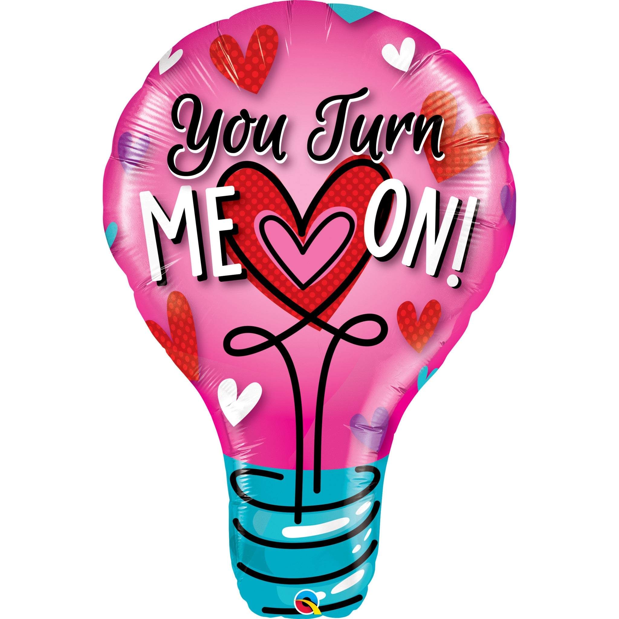 "YOU TURN ME ON 40"" FOIL BALLOON from Flingers Party World Bristol Harbourside who offer a huge range of fancy dress costumes and partyware items"