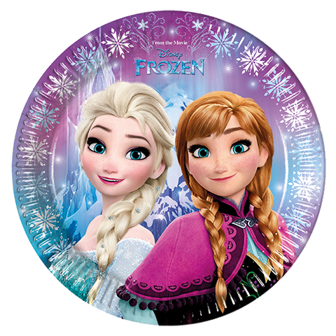 Party Paper Plates 8CT Disney Frozen from Pop Cloud Bristol who offer a huge range of partyware, wedding and event hire decorations