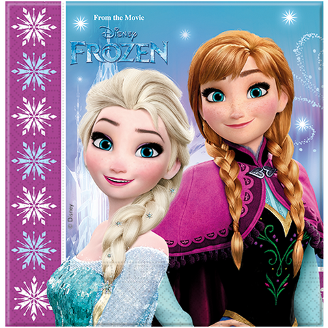 Party Napkins 20ct Disney Frozen from Pop Cloud Bristol who offer a huge range of partyware, wedding and event hire decorations