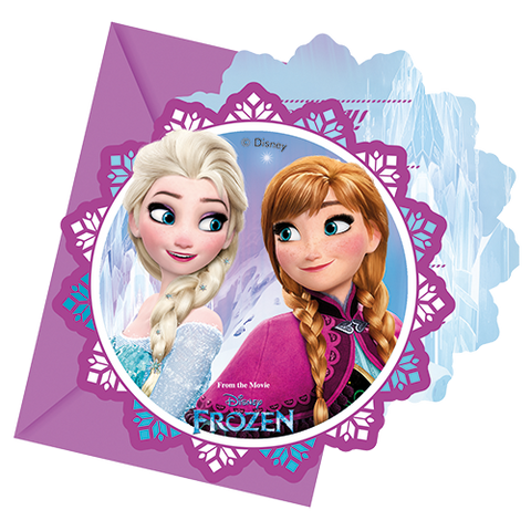 Invitations & envelopes 6ct Disney Frozen from Pop Cloud Bristol who offer a huge range of partyware, wedding and event hire decorations