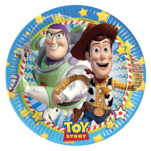 TOY STORY STAR POWER PARTY PAPER PLATES from Flingers Party World Bristol Harbourside who offer a huge range of fancy dress costumes and partyware items