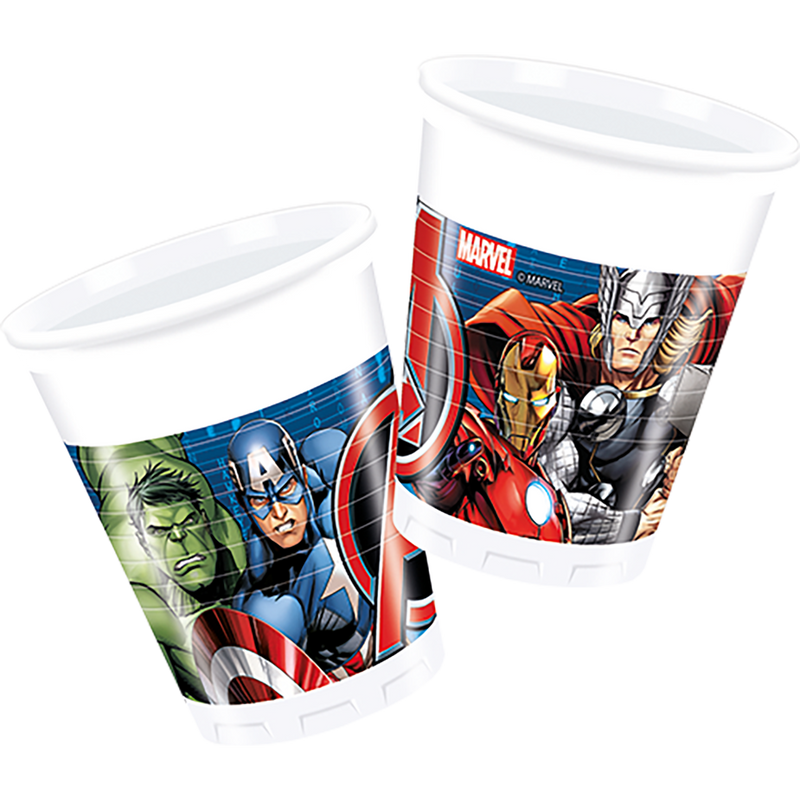 AVENGERS POWER PARTY PLASTIC CUPS from Flingers Party World Bristol Harbourside who offer a huge range of fancy dress costumes and partyware items