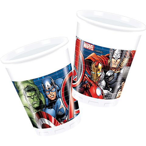 Party Plastic Cups 8CT Avengers Power from Pop Cloud Bristol who offer a huge range of partyware, wedding and event hire decorations