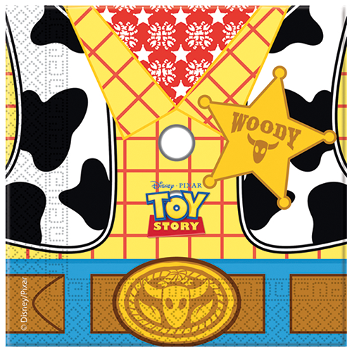 Toy Story Star Power Party Napkins 20CT from Pop Cloud Bristol who offer a huge range of partyware, wedding and event hire decorations