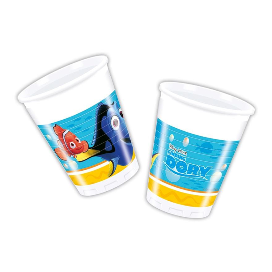 FINDING DORY PARTY PLASTIC CUPS from Flingers Party World Bristol Harbourside who offer a huge range of fancy dress costumes and partyware items