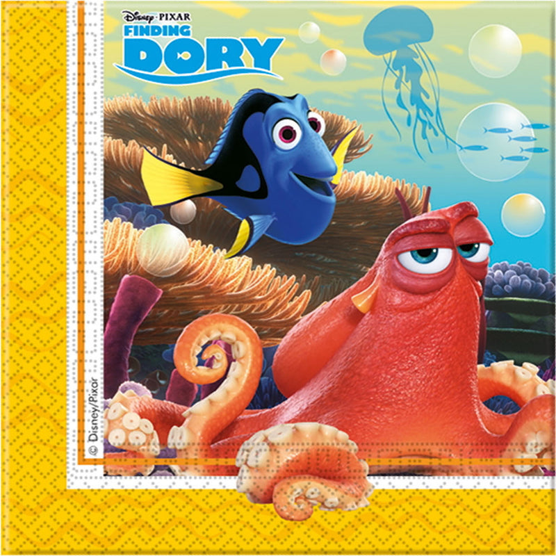FINDING DORY PARTY NAPKINS from Flingers Party World Bristol Harbourside who offer a huge range of fancy dress costumes and partyware items