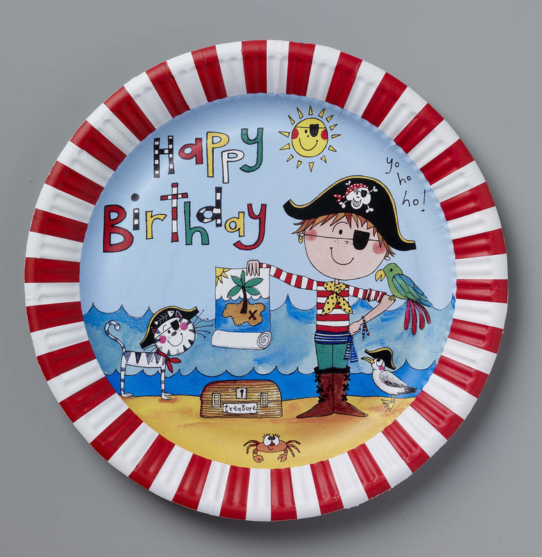 RACHEL ELLEN PIRATE PAPER PLATES from Flingers Party World Bristol Harbourside who offer a huge range of fancy dress costumes and partyware items